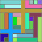 Abstract background with rectangles. Raster. 10 Royalty Free Stock Images