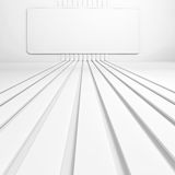 Abstract background. A rectangular frame on the wall. 3D render. Abstract background. A rectangular frame on the wall and floor strips leading thereto. 3D Royalty Free Stock Photography