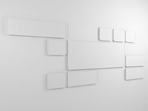 Abstract background. Rectangular frames on the wall. 3D render. Royalty Free Stock Image
