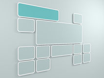 Abstract background. Rectangular frames on the wall. 3D render. Stock Images