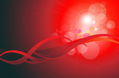 Abstract background red. With glowing lights, vector Stock Photos