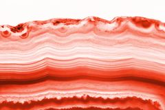 Abstract background - red agate cross section slice mineral royalty free stock photos