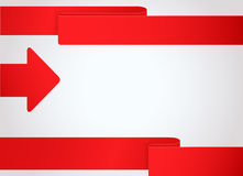 Abstract background with red arrow Royalty Free Stock Image
