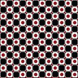 Abstract background in red and black circles Stock Images