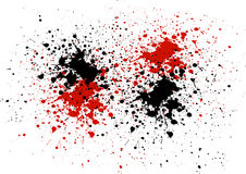 Abstract background with red and black color splatters stock illustration