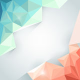 Abstract background with red and blue polygon Royalty Free Stock Photography