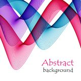 Abstract background with red and blue waves of transparent flying material. Abstract white background with red and blue waves of transparent flying material Stock Photo