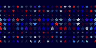 Abstract  background from red, blue, white stars. 4th of July. Abstract dark blue background from red, blue, white stars in the colors of the United States, the Stock Photos