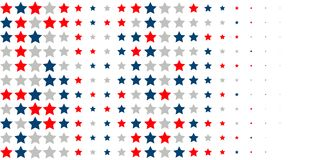 Abstract background of red, blue, white stars. 4th of July. Abstract background of red, blue, white stars in the colors of the United States, the patriotic stars Royalty Free Illustration