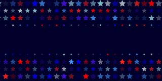 Abstract  background from red, blue, white stars. 4th of July. Abstract dark blue background from red, blue, white stars in the colors of the United States, the Stock Photo