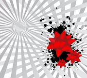 Abstract background. With red bow and splash Royalty Free Stock Images