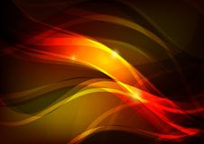 Abstract background of red color with shiny waves royalty free illustration