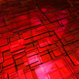 Abstract background from red colored cubes. 3d royalty free illustration