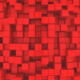 Abstract background. Red cubes. 3D illustration royalty free illustration