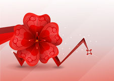 Abstract background. red flower. Stock Photo