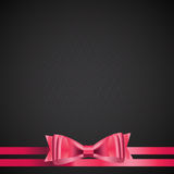 Abstract Background with Red Gift Ribbon . Vector Royalty Free Stock Photo