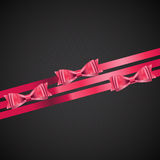 Abstract Background with Red Gift Ribbon . Vector Stock Photo