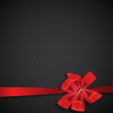 Abstract Background with Red Gift Ribbon . Vector Royalty Free Stock Photography