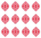 Abstract background, red glossy seamless wallpaper Royalty Free Stock Photos