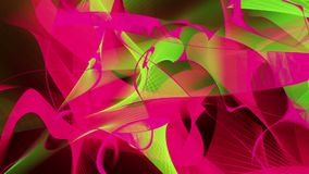 Abstract background in red and green colors on black stock footage