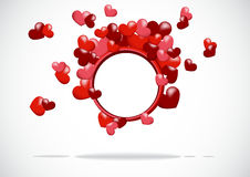 Abstract background with a red heart vector illustration