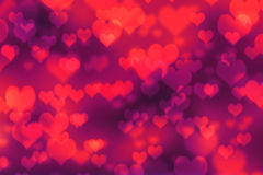 Abstract background red heart bokeh.  Stock Images