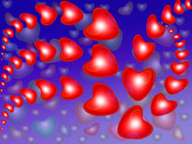 Abstract background with red heart Stock Photography