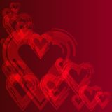 Abstract background with red heart. Abstract,heart,background, valentine,creative Stock Photo