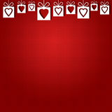 Abstract background of red hearts. The concept of Valentine's Day Vector Illustration