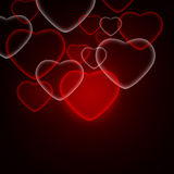 Abstract background of red hearts. The concept of Valentine's Day Royalty Free Stock Photo