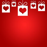 Abstract background of red hearts Royalty Free Stock Image