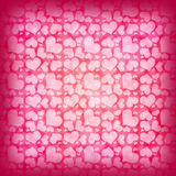 Abstract background of red hearts Royalty Free Stock Photography