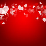 Abstract background of red hearts Stock Photo