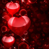 Abstract background of red hearts. The concept of Valentine's Day Stock Illustration