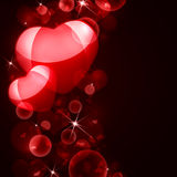 Abstract background of red hearts. The concept of Valentine's Day Royalty Free Stock Images