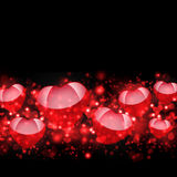 Abstract background of red hearts. The concept of Valentine's Day Stock Images