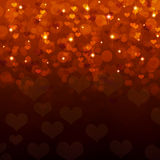 Abstract background of red hearts Royalty Free Stock Images