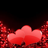 Abstract background of red hearts. The concept of Valentine's Day Stock Image