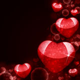 Abstract background of red hearts. The concept of Valentine's Day Royalty Free Illustration