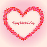 Abstract background with red hearts frame. Vector Stock Images