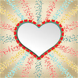 Abstract background with red hearts. Vector Royalty Free Stock Photos
