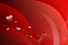Abstract background red hearts vector Royalty Free Stock Photo