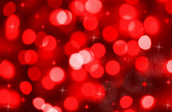 Abstract background of red holiday lights