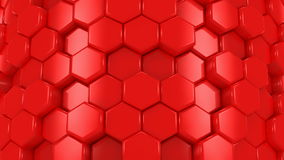 Abstract Background of Red Honeycombs stock footage