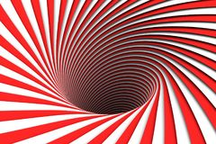 Abstract background red lines black hole. 3d illustration Royalty Free Stock Images