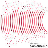 Abstract background with red lines and flying pieces. Colored circles with place for your text  on a white background Stock Photography