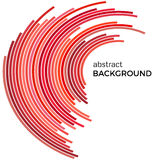 Abstract background with red lines. Red lines with place for your text. On a white background Royalty Free Stock Photography