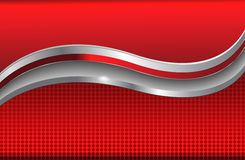 Abstract background red metallic. Abstract background red with silver metallic elements vector illustration