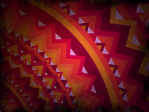 Abstract background - red and orange with black grunge - mandala style Royalty Free Stock Photography