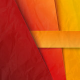 Abstract  background with red and orange paper lay Royalty Free Stock Photography